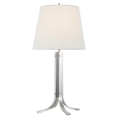Logan Table Lamp Polished Nickel Bulbs Inc