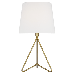 Dylan Tall Table Lamp Burnished Brass Bulbs Inc