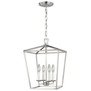 Dianna Four Light Small Lantern Brushed Nickel