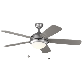 """52"""" Discus Outdoor Fan -  Painted Brushed Steel"""
