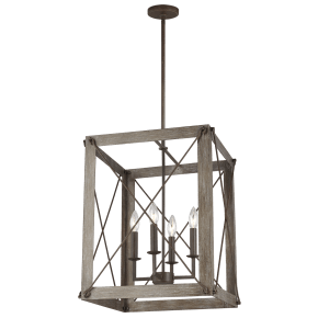Thornwood Medium Four Light Hall / Foyer Washed Pine