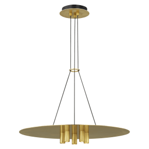 Ponte 22 Pendant Natural Brass 3000K 90 CRI Integrated LED 90 CRI 3000K 120v