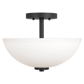 Oslo Two Light Semi-Flush Convertible Pendant Midnight Black