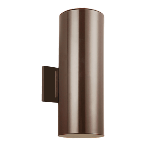Outdoor Cylinders Large Two Light Outdoor Wall Lantern Bronze