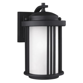 Crowell Small One Light Outdoor Wall Lantern Black