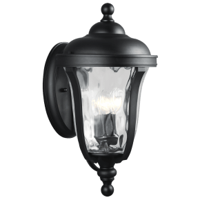 Perrywood Large Three Light Outdoor Wall Lantern Black Bulbs Inc