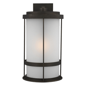 Wilburn Extra Large One Light Outdoor Wall Lantern Antique Bronze
