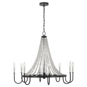 Leon Large Chandelier Dark Weathered Zinc