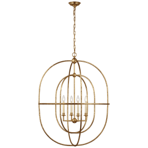 Desmond Open Double Oval Lantern in Gild