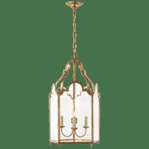 French Market Medium Lantern in Gilded Iron