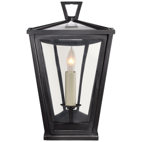 Darlana Mini 3/4 Wall Lantern in Bronze with Clear Glass