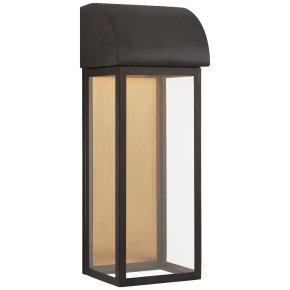 """Edgemont 18"""" Wall Sconce in Bronze with Clear Glass"""
