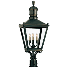 Sussex Medium Post Lantern in Bronze