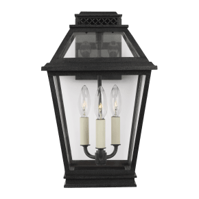 Falmouth Medium Outdoor Wall Lantern Dark Weathered Zinc