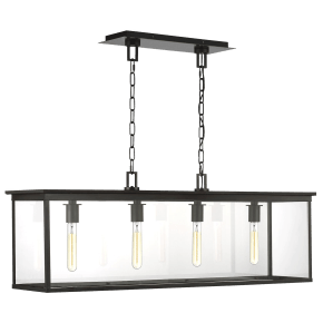 Freeport Linear Outdoor Chandelier Heritage Copper