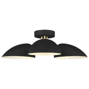 Jane Semi-Flush Mount Midnight Black