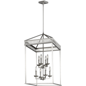 Woodruff Medium Lantern Polished Nickel