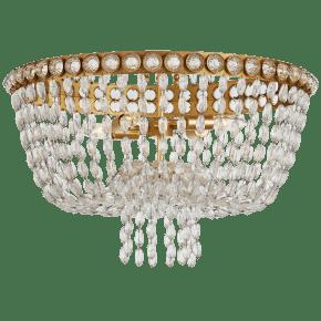 Navona Large Basket Flush Mount in Gild and Crystal
