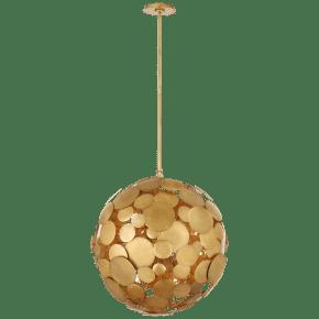 Luna Medium Chandelier in Gilded Iron