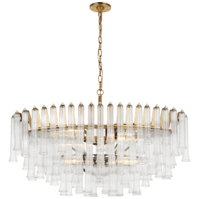 Lorelei X-Large Oval Chandelier in Gild with Clear Glass