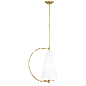 Gesture Tall Pendant Burnished Brass
