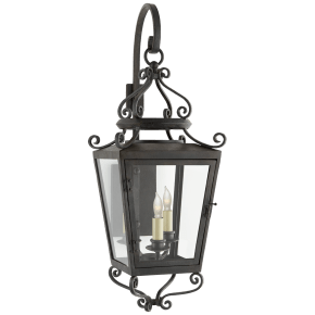 Lafayette Small Bracketed Lantern in French Rust with Clear Glass