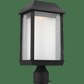 McHenry LED Post Lantern Textured Black Bulbs Inc