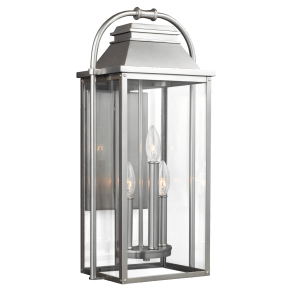 Wellsworth Medium Lantern Painted Brushed Steel