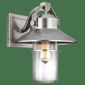 Boynton Medium Lantern Painted Brushed Steel