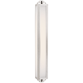 Keating Large Sconce in Polished Nickel with White Glass