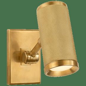 Barrett Mini Bed Light in Natural Brass