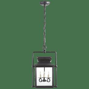 Honore Medium Square Frame Lantern in Blackened Copper