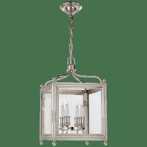 Greggory Small Lantern in Polished Nickel