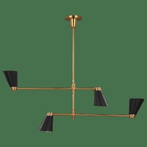 Signoret Medium Chandelier Burnished Brass