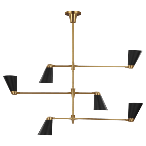 Signoret Large Chandelier Burnished Brass