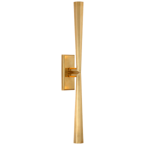 Galahad Linear Sconce in Hand-Rubbed Antique Brass