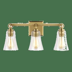 Monterro 3 - Light Vanity Burnished Brass