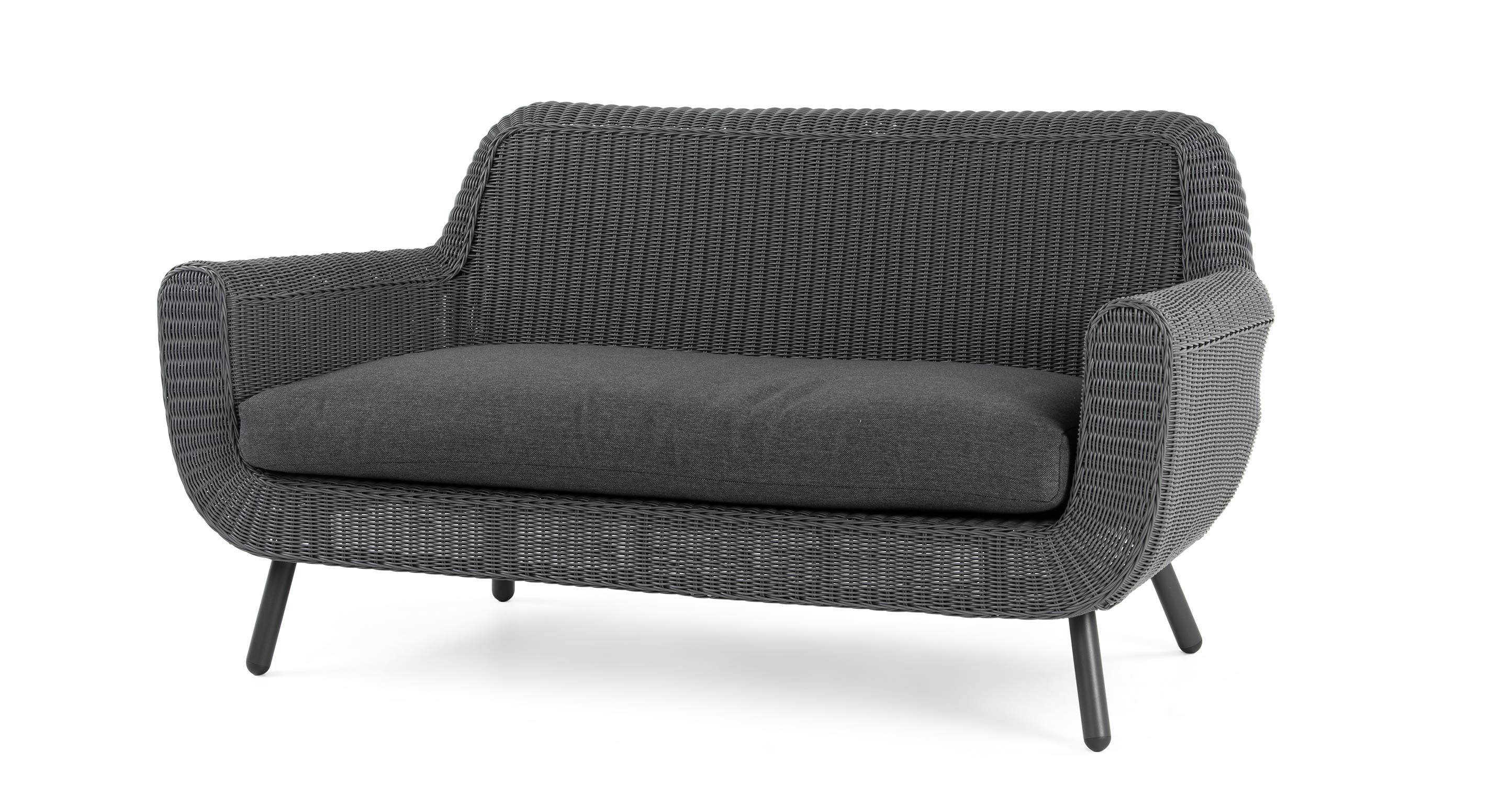jonah 2 sitzer gartensofa rattan grau. Black Bedroom Furniture Sets. Home Design Ideas
