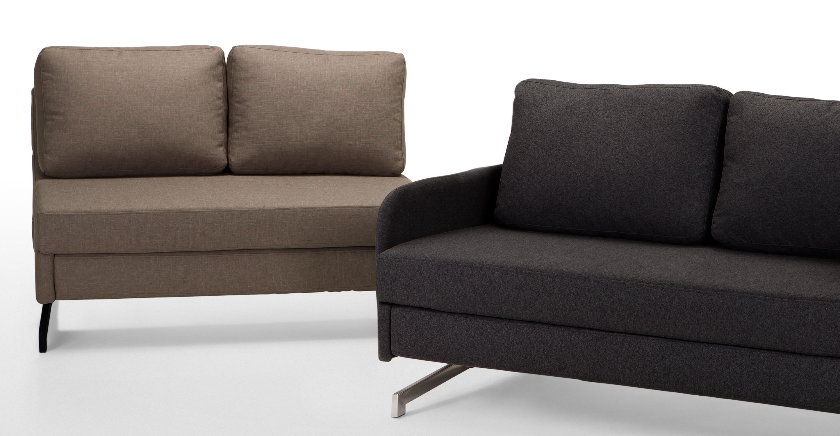 Motti Armless Sofa Bed in pipit beige   made.com