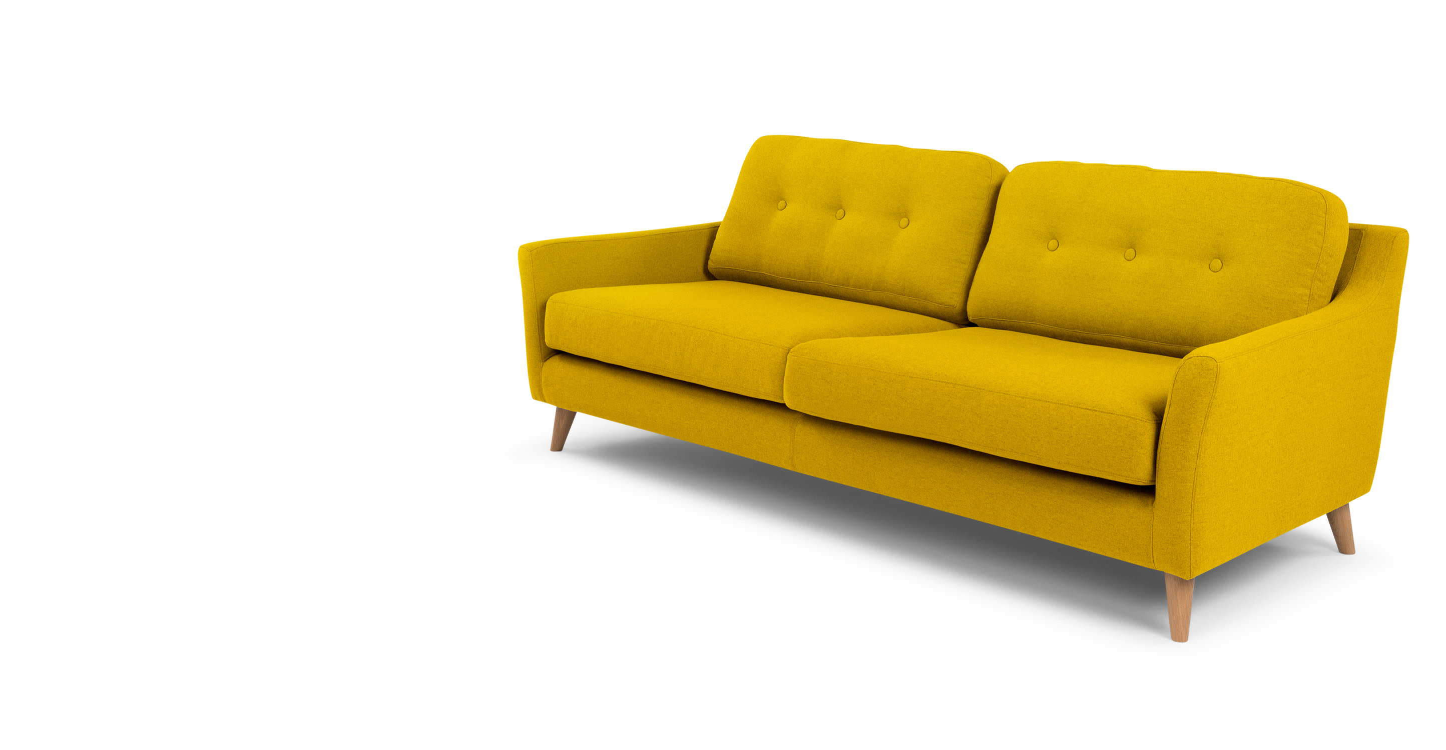 Rufus 3 Seater Sofa, Mustard Yellow made com