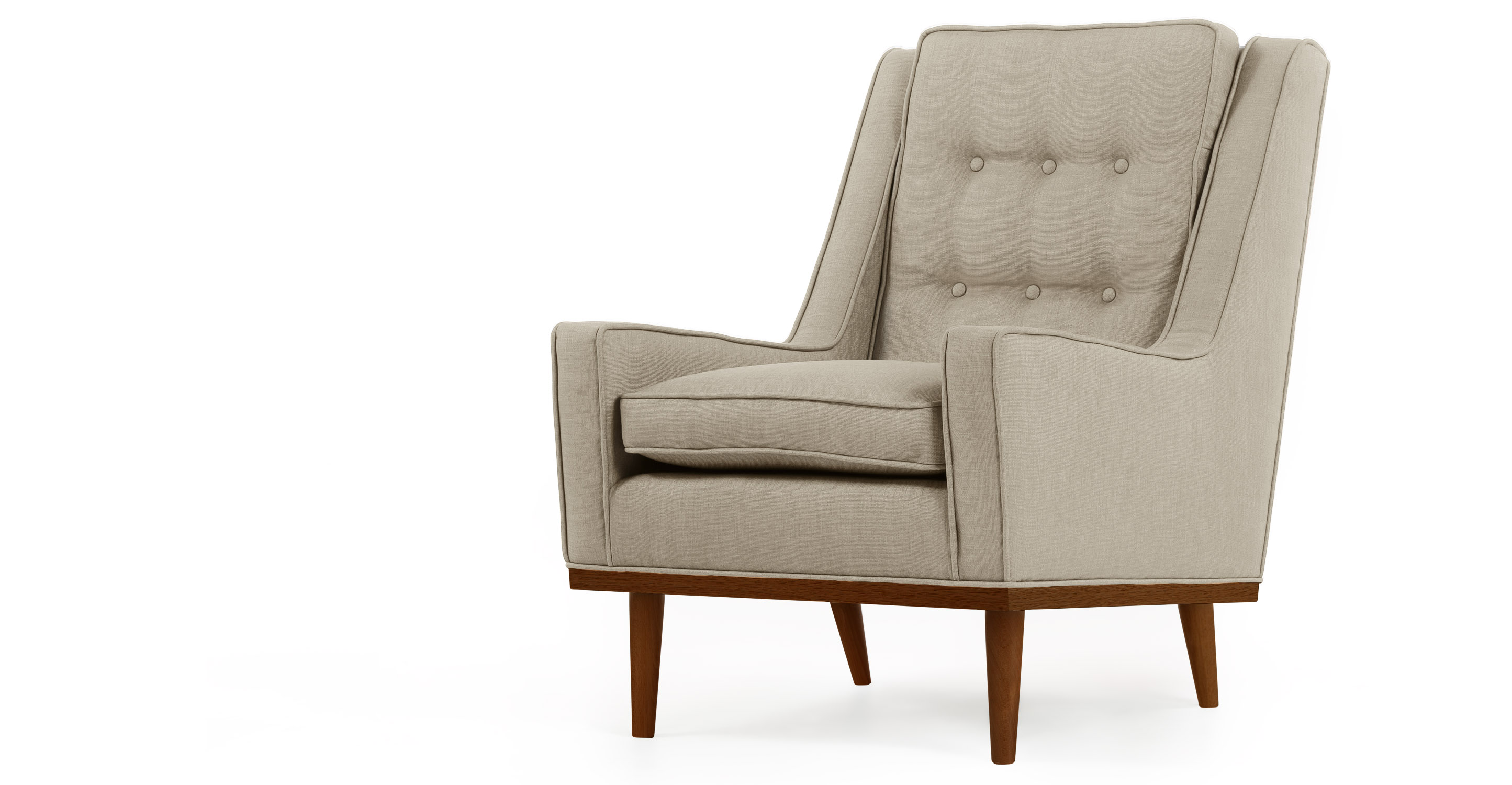 Scott Retro Armchair in calico beige | made.com