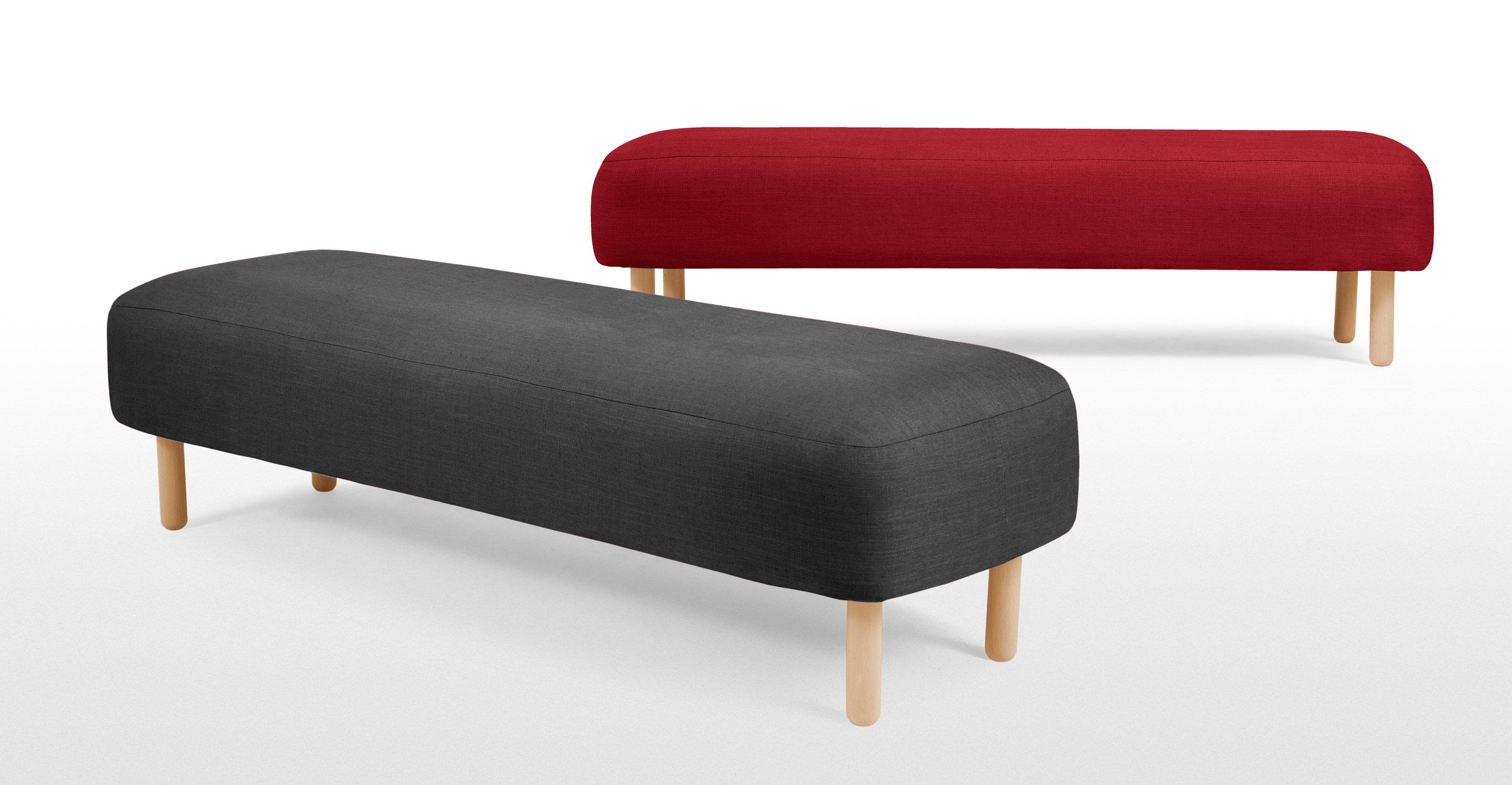 Jonah Upholstered Bench In Shire Grey Made Com