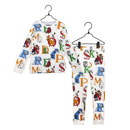 Moomin Alphabet Pyjamas white