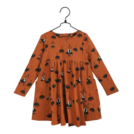 Moomin Tulips Pocket Dress cinnamon