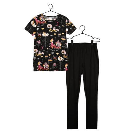 Moomin Friendship Pyjamas Short-sleeve black