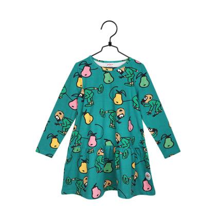 Peppi Pitkätossu Tossavainen-mekko vihreä