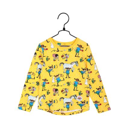 Peppi Pitkätossu Naapurit-paita keltainen