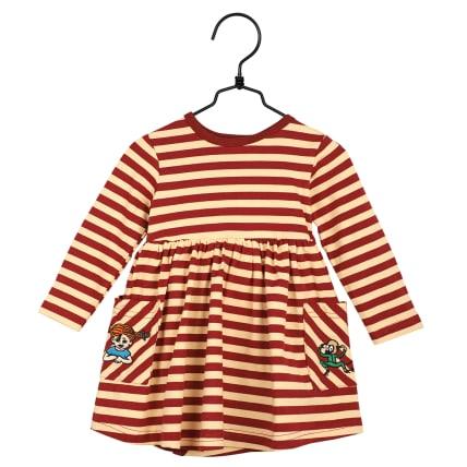 Pippi Longstocking Buddies Bodysuit Dress red