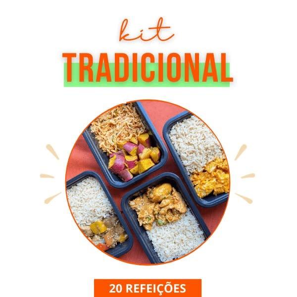 Kit Tradicional do mês - Marmita Fitness - Vipx Gourmet