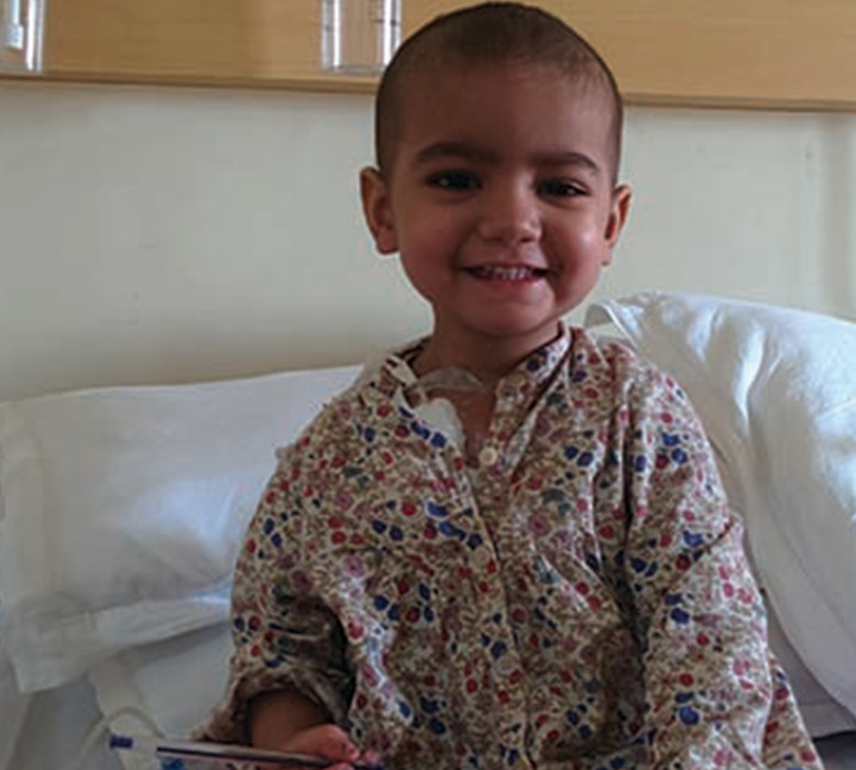 Two year old Ridhi is fighting cancer for the third time.